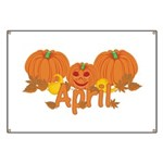 Halloween Pumpkin April Banner