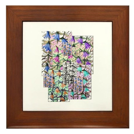 Lady Bells Framed Tile