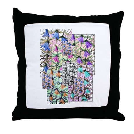 Lady Bells Throw Pillow