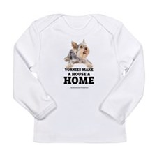 Home with Yorkies Long Sleeve Infant T-Shirt