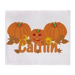 Halloween Pumpkin Caitlin Throw Blanket