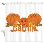 Halloween Pumpkin Caitlin Shower Curtain
