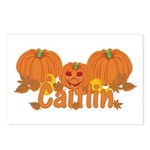 Halloween Pumpkin Caitlin Postcards (Package of 8)