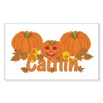 Halloween Pumpkin Caitlin Sticker (Rectangle)