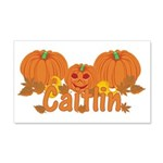 Halloween Pumpkin Caitlin 20x12 Wall Decal