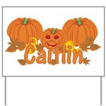 Halloween Pumpkin Caitlin Yard Sign