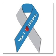 3 x 3 Type 1 Diabetes Awareness Square Car Magnet