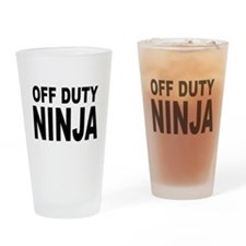 Off Duty Ninja Drinking Glass
