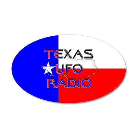 Texas UFO Radio 20x12 Oval Wall Decal