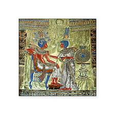 "Tutankhamons Throne Square Sticker 3"" x 3"""