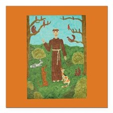 Saint Francis of Assisi Square Car Magnet 3""