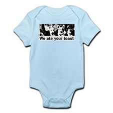 We (the corgis) ate your toast Infant Bodysuit