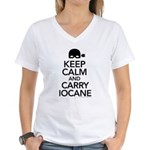 Keep Calm and Carry Iocane Women's V-Neck T-Shirt