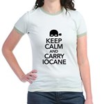 Keep Calm and Carry Iocane Jr. Ringer T-Shirt