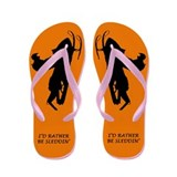 Sled Pic Orange Flip Flops