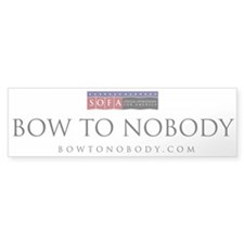 Cute Nobody's Bumper Sticker