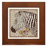 Zebra Butterfly Framed Tile