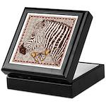Zebra Butterfly Keepsake Box