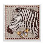 Zebra Butterfly Tile Coaster