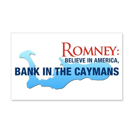 Romney Bank in Caymans 20x12 Wall Decal