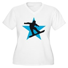 snowboard born to fly star usa T-Shirt