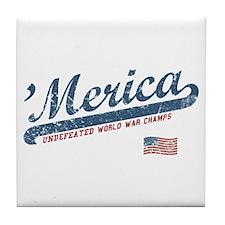 Vintage Team 'Merica Tile Coaster