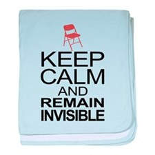 Obama Empty Chair - Remain Invisible baby blanket