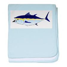 Bluefin Tuna fish baby blanket