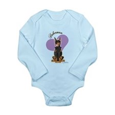 Doberman Long Sleeve Infant Bodysuit