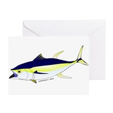 Yellowfin Tuna (Allison Tuna) Greeting Cards (Pk o
