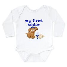 my first Seder Long Sleeve Infant Bodysuit