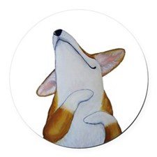 Corgi Bliss! Round Car Magnet