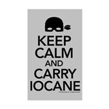 Keeo Calm and Carry Iocane Stickers