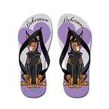 Doberman Flip Flops purple