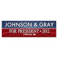 FREE - Gary Johnson 2012 Bumper Car Sticker