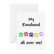 Keeshond Walks Greeting Cards (Pk of 10)