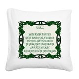 The Irish Blessing Square Canvas Pillow