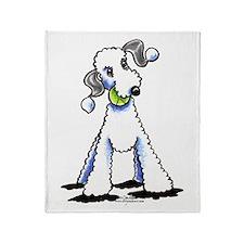 Bedlington Terrier Play Throw Blanket