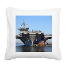 USS Enterprise CVN65 Square Canvas Pillow