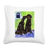 Flattie pals Square Canvas Pillow