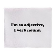 Adjective Verb Nouns Throw Blanket