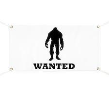 Bigfoot Wanted Banner