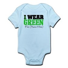 Personalize I Wear Green Infant Bodysuit