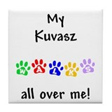 Kuvasz Walks Tile Coaster