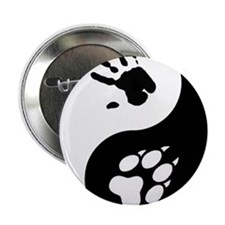 "Wolf Therian Ying Yang 2.25"" Button"