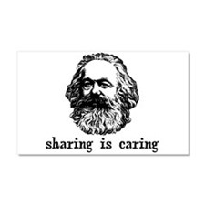 Marx: Sharing is Caring Car Magnet 20 x 12