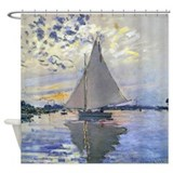 Monet sailing Shower Curtains