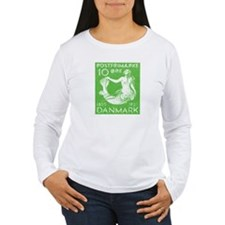 1935 Denmark Mermaid Stamp Green T-Shirt
