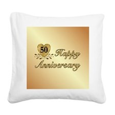 50th - Golden Anniversary Square Canvas Pillow