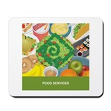 Funny Food service Mousepad